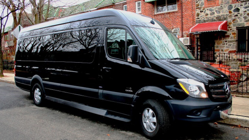 Queens production limousine fleet for Mercedes benz luxury van